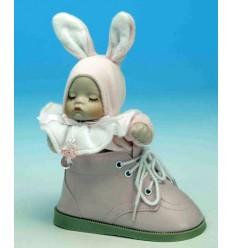 Bebé - menina num sapato