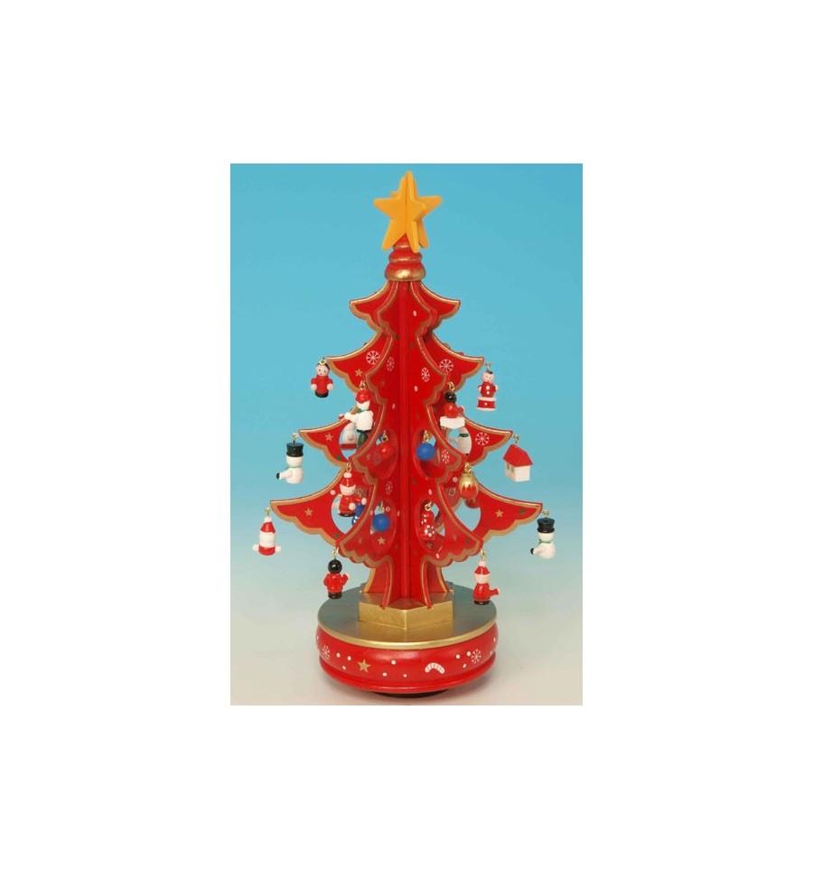 decoracao arvore de natal vermelha: amigo arvore de natal vermelha em madeira com 6 partes arvore de natal